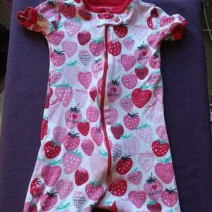 Children's Place Strawberry Red Romper 18-24 month